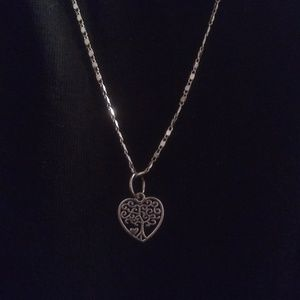NEW TREE LIFE HEART PENDANT STERLING SILVER CHAIN